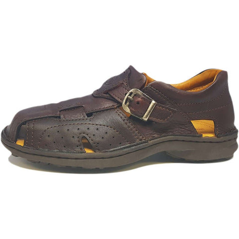 Trantrax Closed Toe Leather Sandal