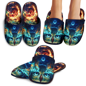 Owl Galaxy Slippers