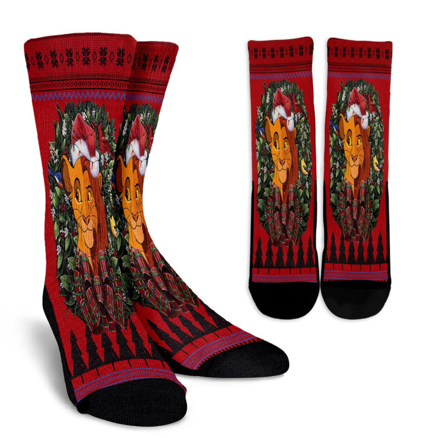 Ulgy christmas Lion king noel socks - perfect christmas gift