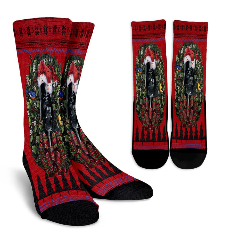 Ulgy christmas darth vader  star wars 2 noel socks - perfect christmas gift