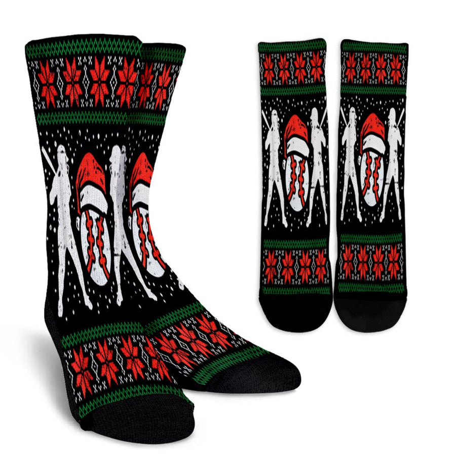 Baseball Ugly Christmas Sweater Softball Batter Hitter Gift noel socks - perfect christmas gift
