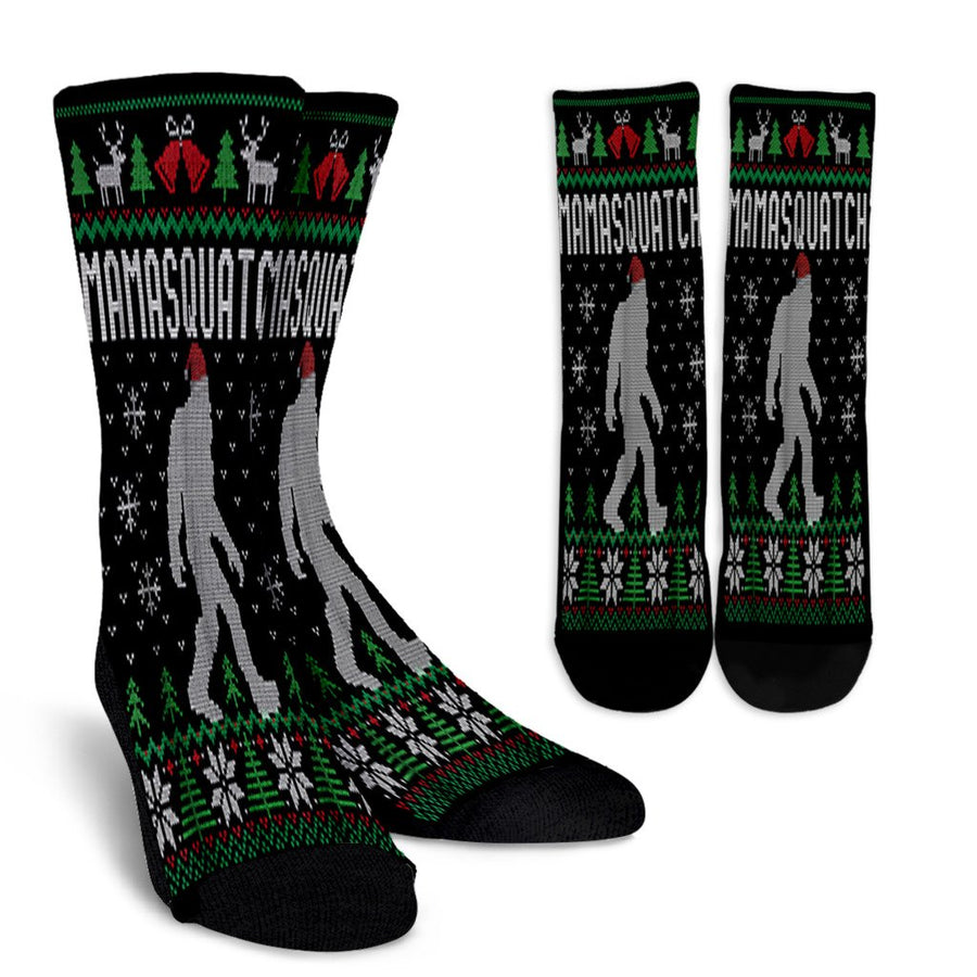 Bigfoot Santa Ugly Christmas Pajamas Mom noel socks - perfect christmas gift