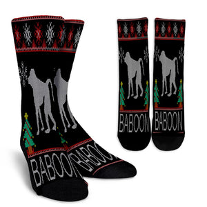 Baboon Christmas Ugly noel socks - perfect christmas gift