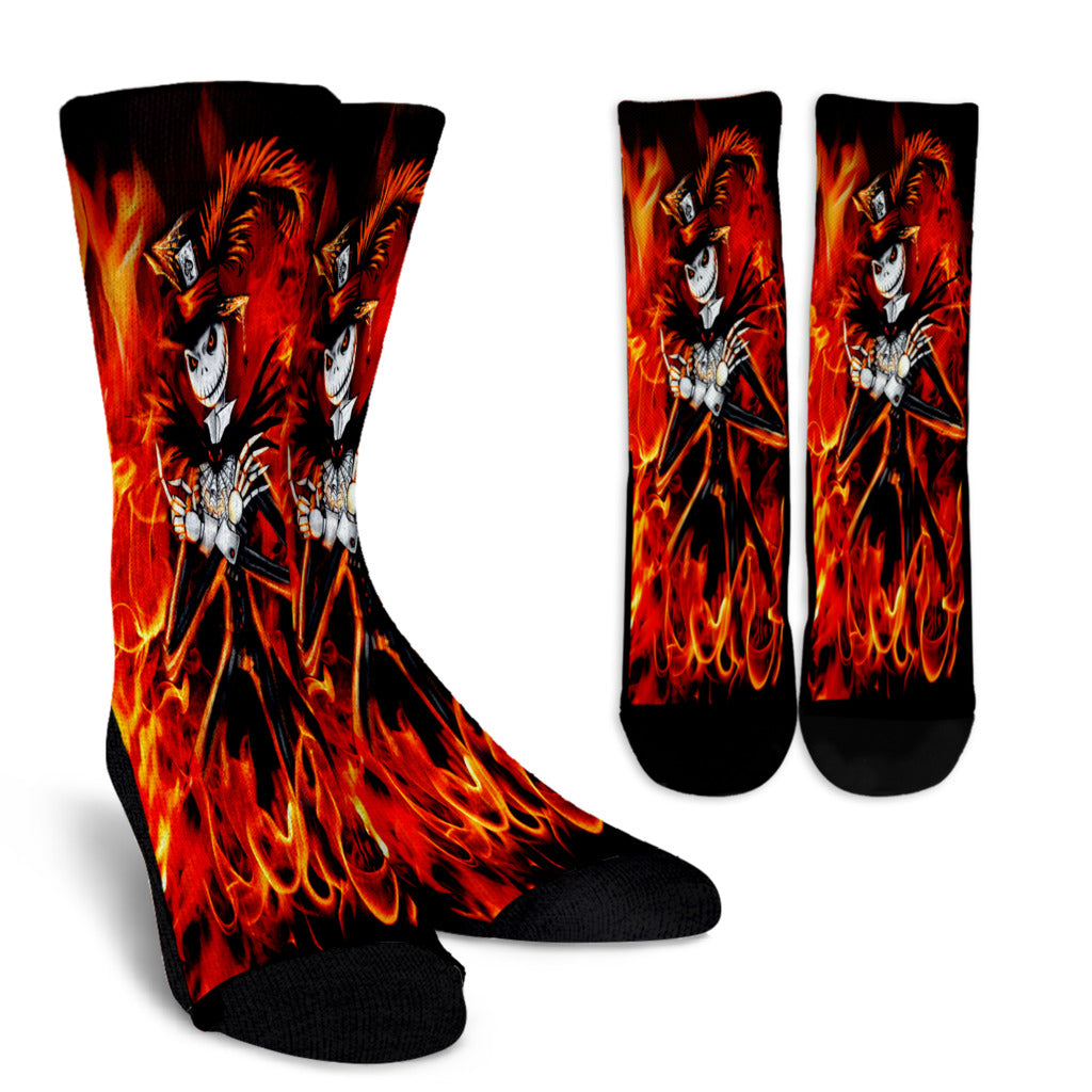 Jack Skellington Fire Socks
