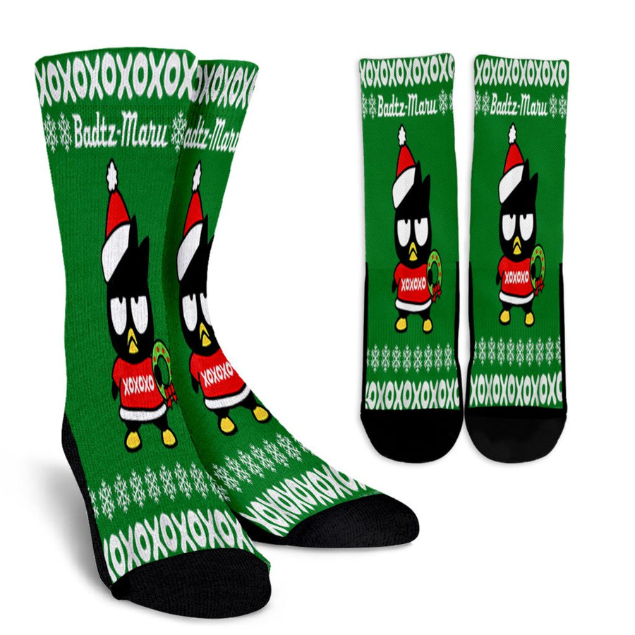 Bad Badtz Maru Ugly Christmas noel socks - perfect christmas gift