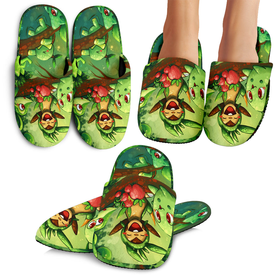 Pokemon Grass Slippers