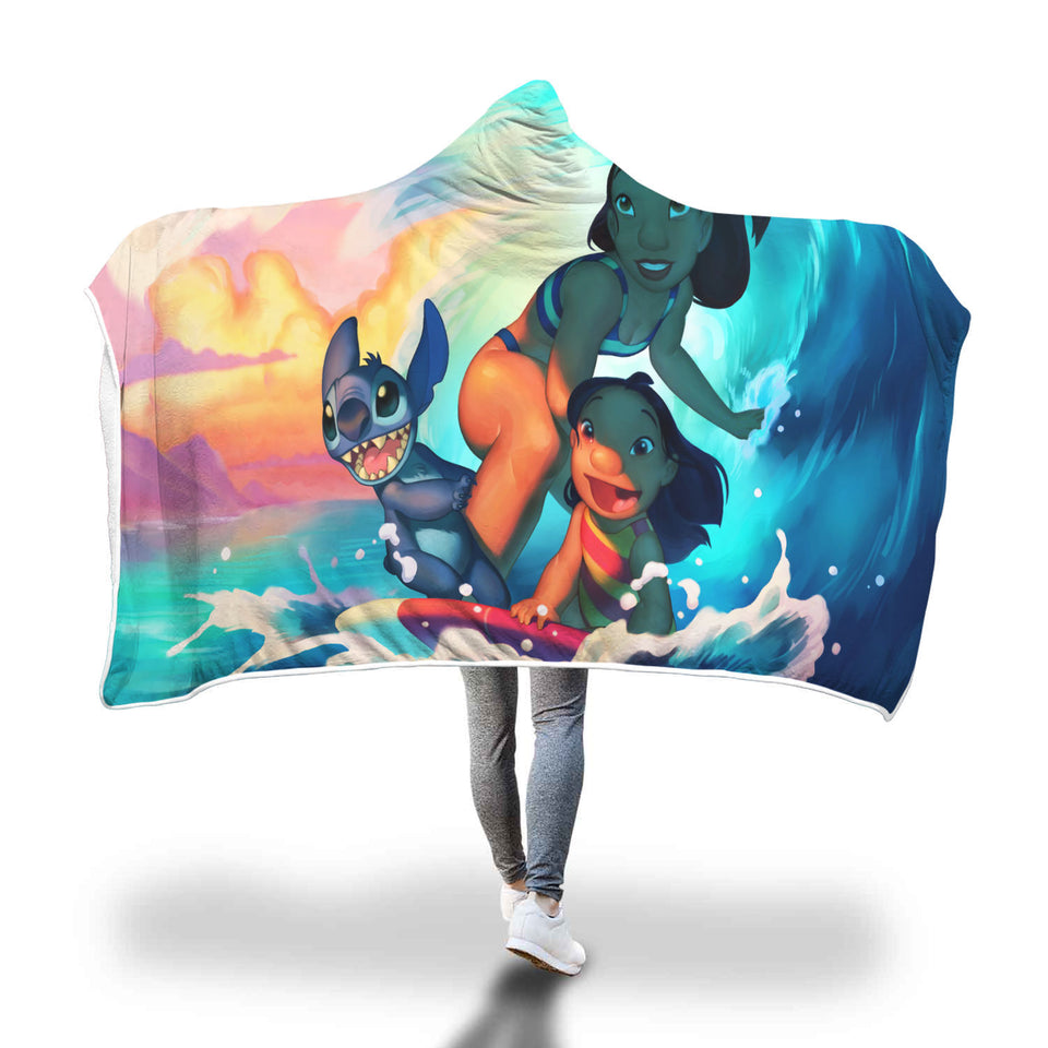 Lilo And Stitch Hooded Blanket