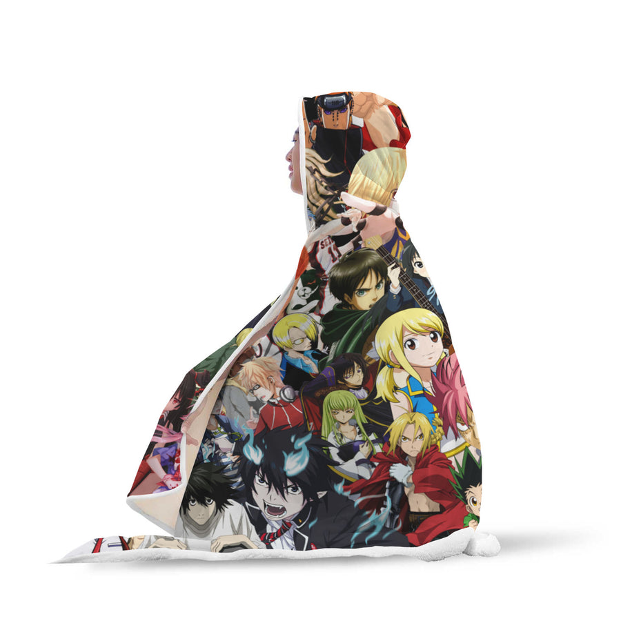 Anime 2019 Characters Hooded Blanket