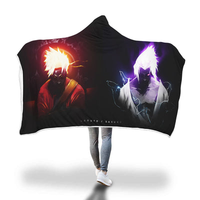 Naruto Sasuke Hooded Blanket 1