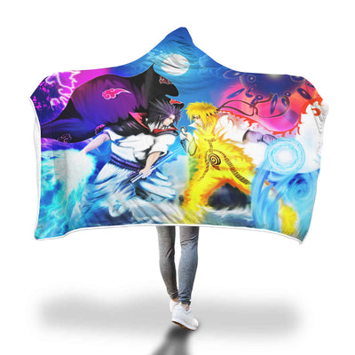 Naruto vs Sasuke Hooded Blanket