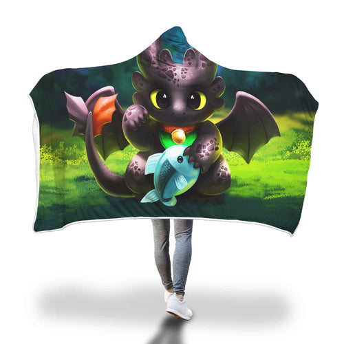 Toothless How To Train Your Dragon Hooded Blanket