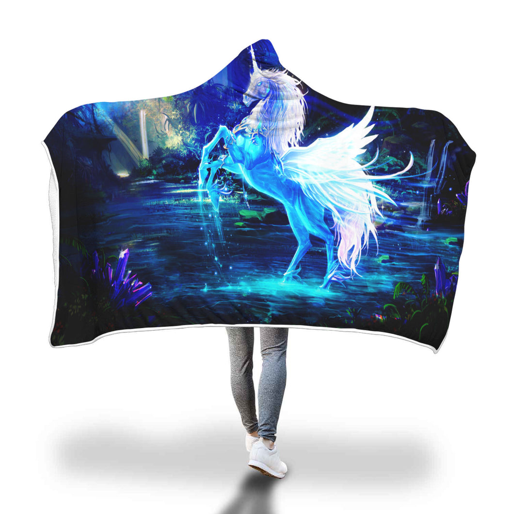 Unicorn Hooded Blanket