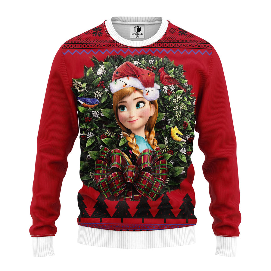 Anna Frozen Noel Mc Ugly Christmas Sweater