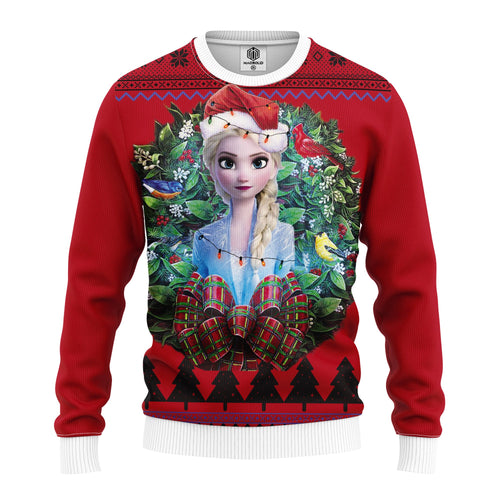 Beauty Elsa Frozen 2 Noel Mc Ugly Christmas Sweater