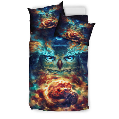Owl Galaxy Bedding Set