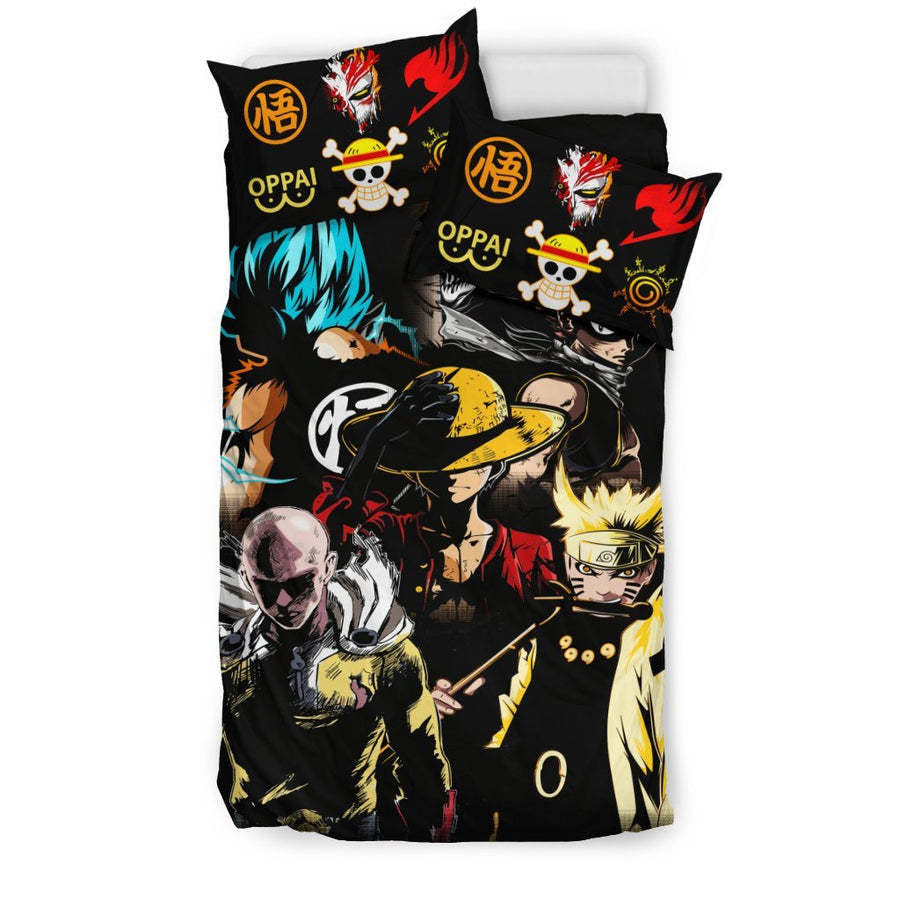 Anime Heroes 2019 Bedding Set - duvet cover and pillowcase set