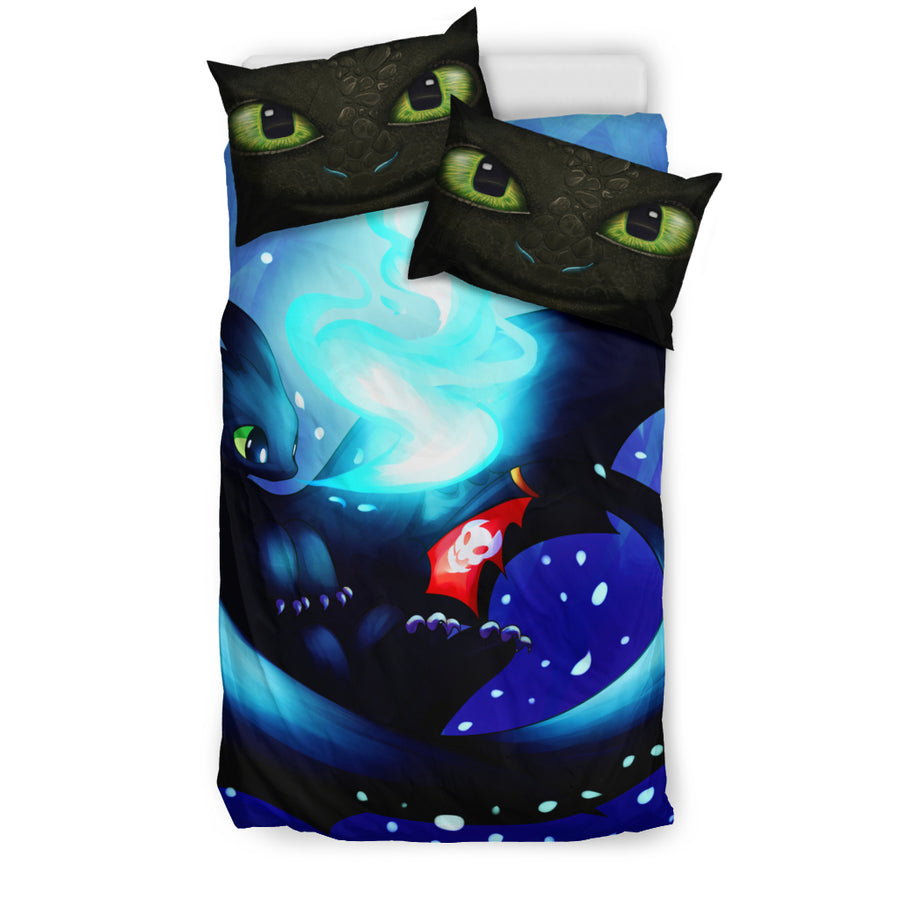 Toothless How To Train Your Dragon Bedding Set - duvet cover and pillowcase set