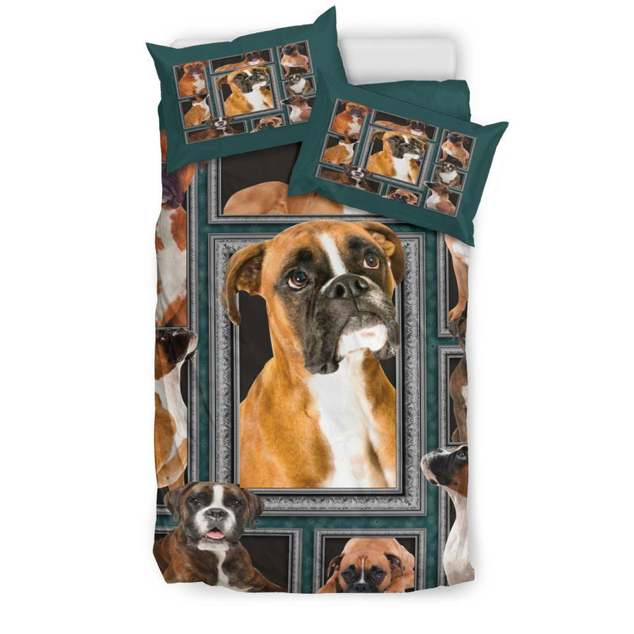 Boxer Dog Bedding Set - duvet cover and pillowcase set