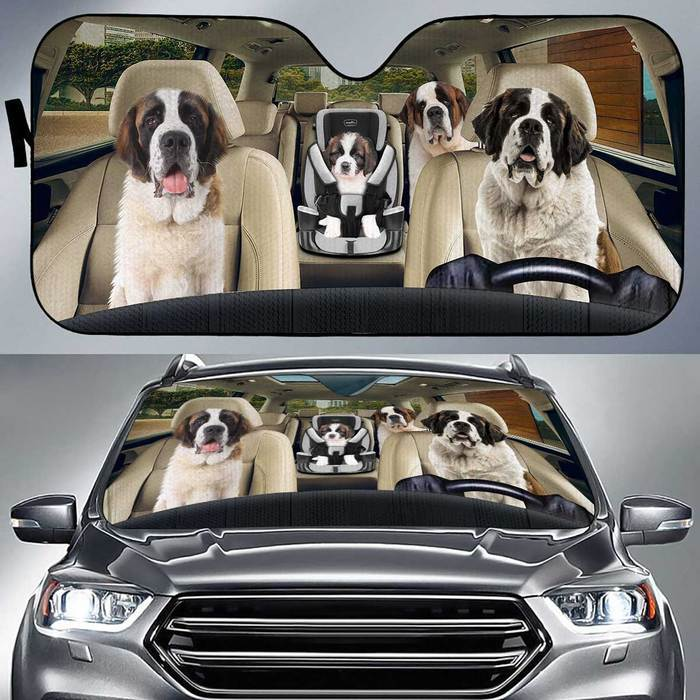 Saint Bernard Auto Sun Shade Baby In Car, Multi Sizes Auto Sun Shade For Pet Lovers amazing best gift ideas 2020