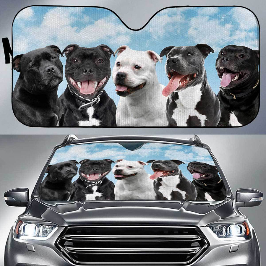 Staffordshire Bull Terrier Funny Team Auto Sun Shade amazing best gift ideas 2020