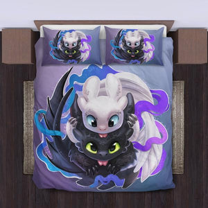 Toothless And The Light Fury Bedding Set