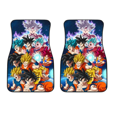 All Transformations Goku Front Car Mats (Set Of 2) - 99Shirt