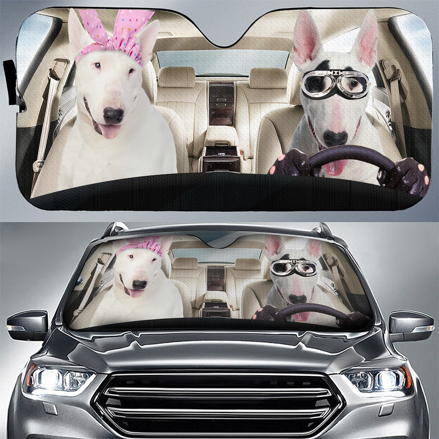 BULL TERRIER - AUTO SUN SHADE - CAR DRIVER amazing best gift ideas 2020