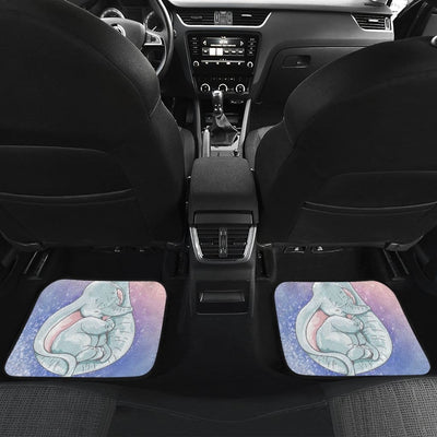 Baby Elephant Front And Back Car Mats (Set Of 4) - 99Shirt