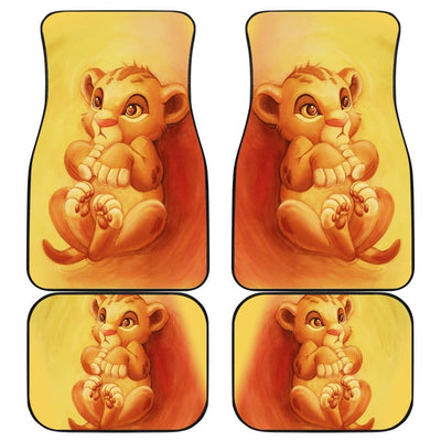 Baby Simba Front And Back Car Mats (Set Of 4) - 99Shirt