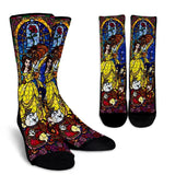Beauty And The Beast Socks - 99Shirt