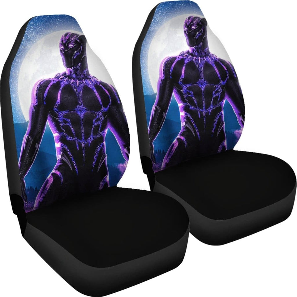 Black Panther Car Seat Covers 2 - 99Shirt