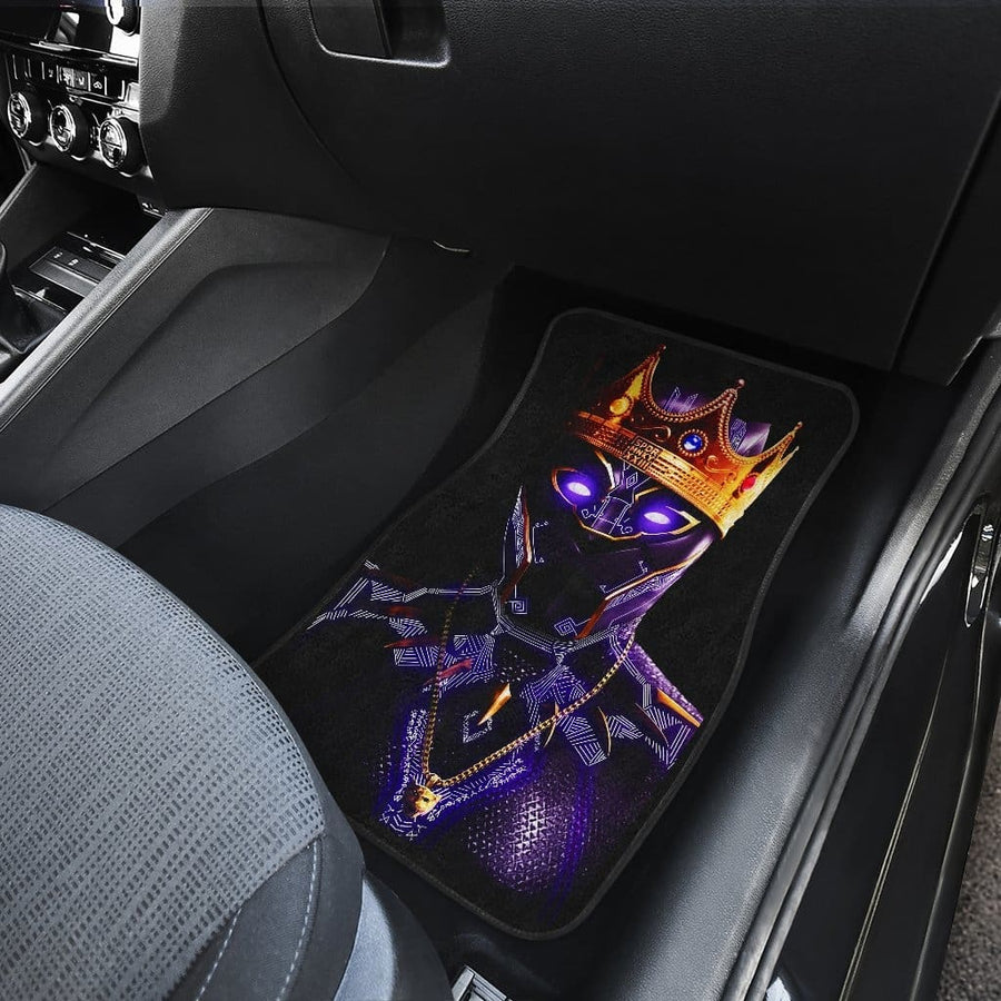 Black Panther Front And Back Car Mats (Set Of 4)