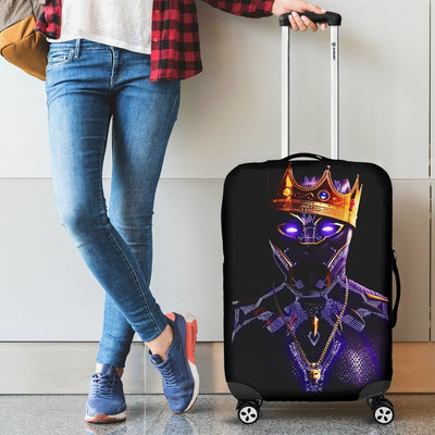 Black Panther King Luggage Covers - 99Shirt