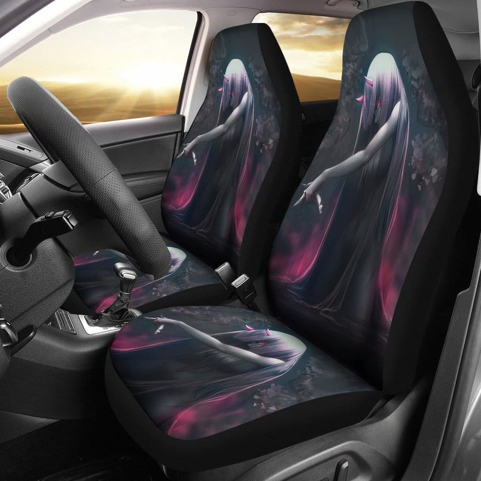 Dark Zero Two Darling In The Franxx Car Seat Covers - 99Shirt