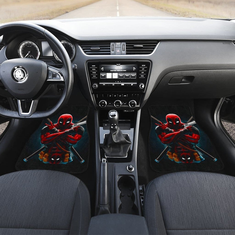 Deadpool Front And Back Car Mats (Set Of 4) - 99Shirt