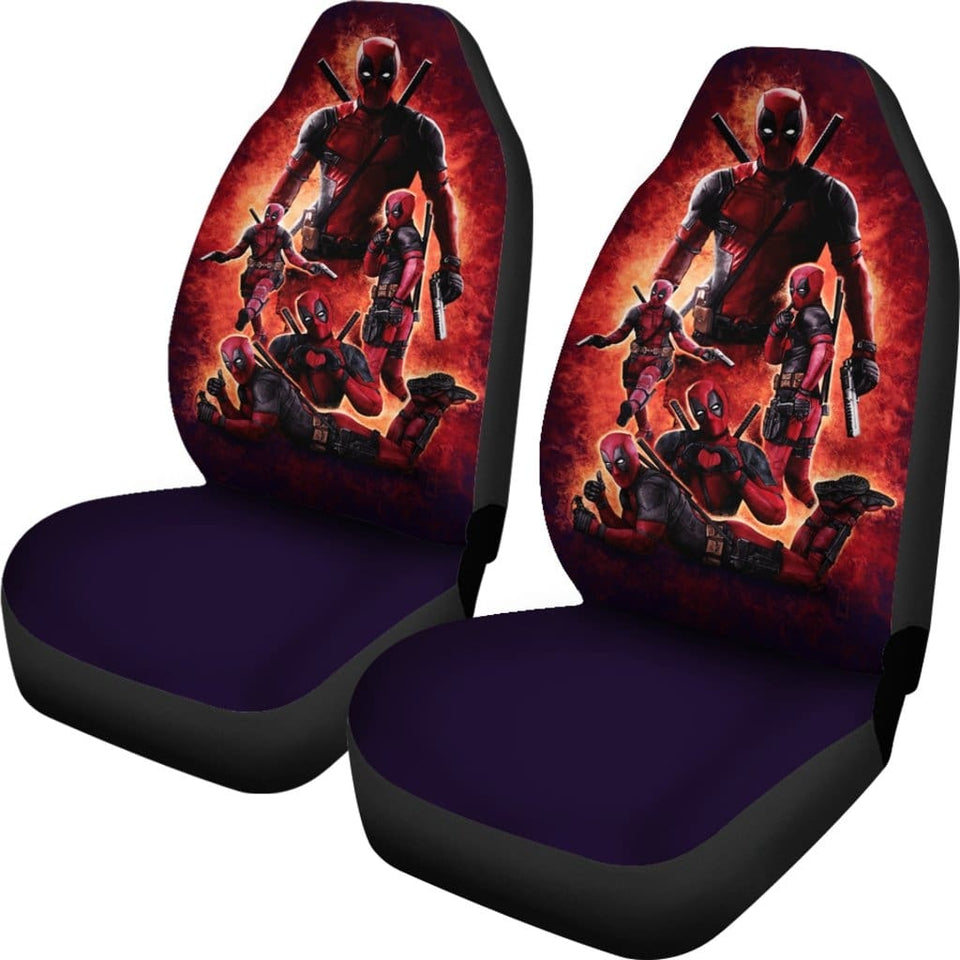 Deadpool Reaction Car Seat Covers - 99Shirt