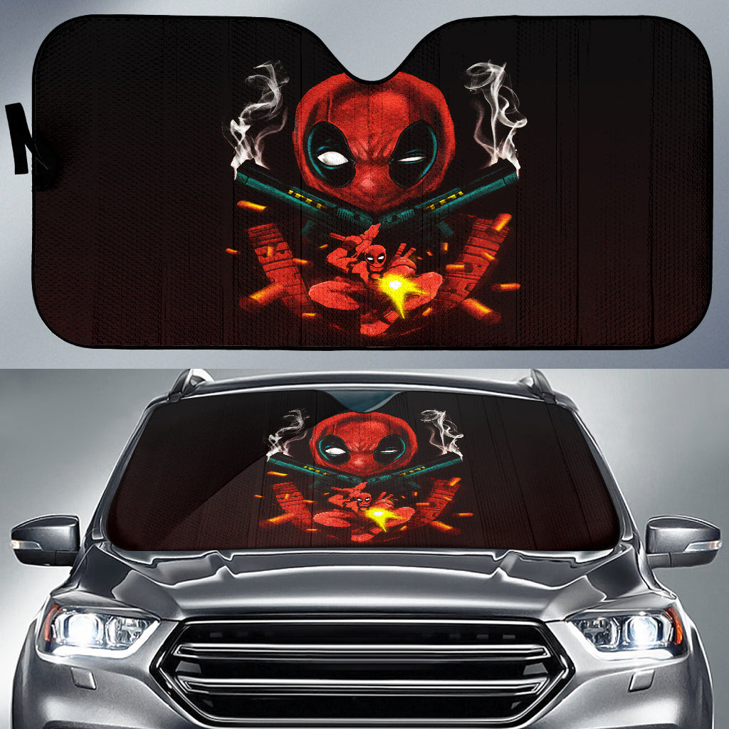 Deadpool Gun Car Sun Shades