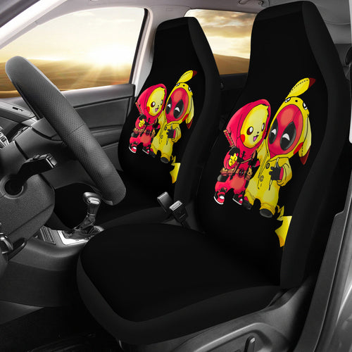 Pikachu Deadpool Car Seat Covers