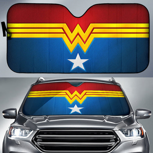 Wonder Woman Logo Car Sun Shades