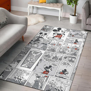 mickey mouse comic Area Rug Carpet