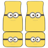 Minion Glasses Cute Smile Walt Disney Car Floor Mats