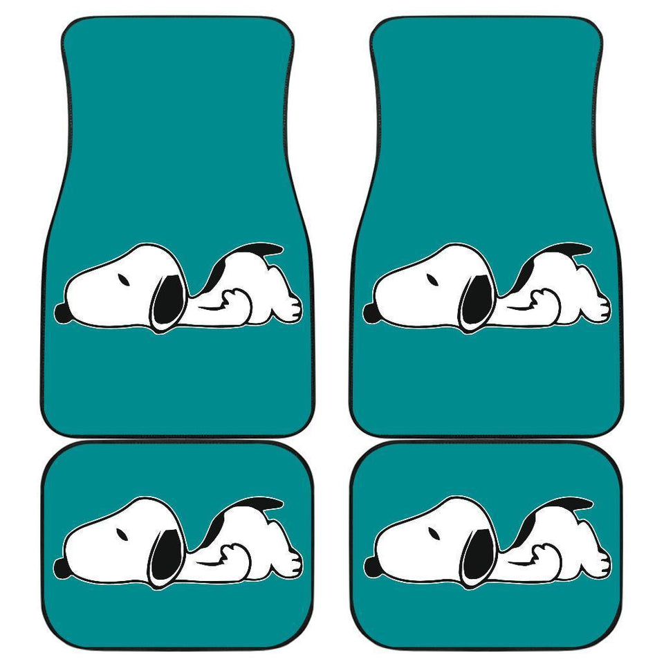 Snoopy Sleeping in Blue theme Car Floor Mats