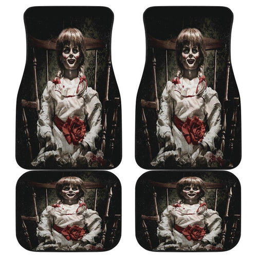 Annabelle Doll Scary Creepy in black theme Car Floor Mats
