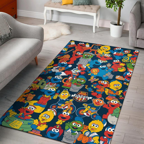 Sesame Street Muppets Characters Area Rug Carpet