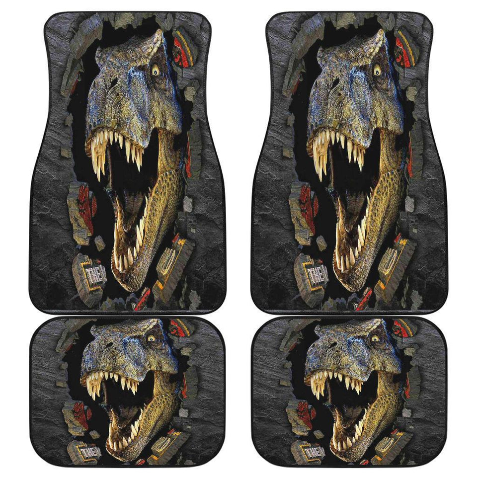 T Red 3D Scary Car Floor Mats