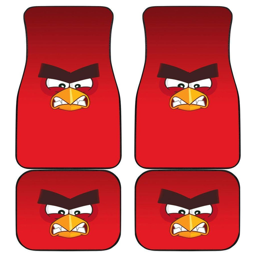 Red of Angry Bird Face Car Floor Mats