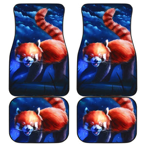 Red Mink Moutain Japan Animal Car Floor Mats