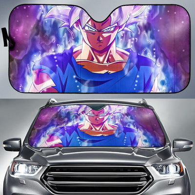 Ultra Instinct Goku Super Saiyan Silver Goku Dragon Ball Car Sun Shade