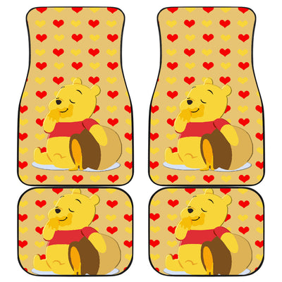 Winnie The Pooh Front And Back Car Mats (Set Of 4)