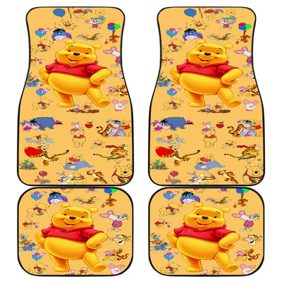 Winnie The Pooh Front And Back Car Mats 10 (Set Of 4)